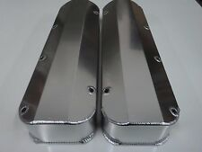 BB Ford 429 460 Fabricated Clear Anodized Aluminum Tall Valve Covers No Hole New