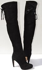 Sam Edelman Kayla Black Suede Over The Knee Boots Size 6.5