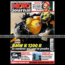 MOTO JOURNAL N°1663 BMW K 1200 R ★ KAWASAKI 500 KLE ★ GRAND PRIX SHANGAI 2005 ★