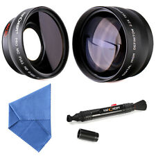 52MM 0.45x Wide Angle Macro 2.2x Telephoto HD Multi-coated Lens Cleaning Kits