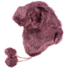 Winter Cute Ears Faux Fur Furry Trooper Trapper Pilot EarFlap Hat Ski Cap Purple