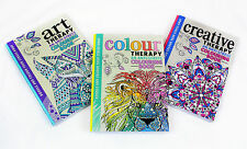 HB Art Colour &  Creative Therapy Anti Stress Adult Colouring 3 Books Collection
