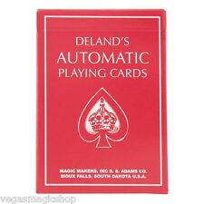 Red Deland's Automatic Playing Cards -Marked, Stripped / Tapered & Stacked Deck