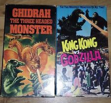 Horror movie Lot King Kong vs Godzilla / Ghidrah the Three Headed Monster VHS