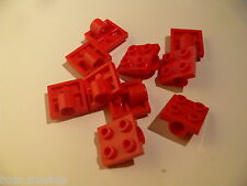 Lego 10 plates rouges pour roues set 8443 7647 10024 / 10 red plate with 1 hole
