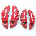 Front and Rear New Universal Red 3D Brembo Style Disc Brake Caliper Covers 4pcs