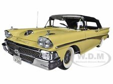 1958 FORD FAIRLANE 500 CLOSED CONVERTIBLE SUN GOLD/BLACK 1/18 BY SUNSTAR 5281
