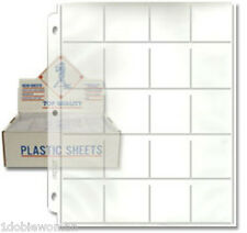 5 20 2x2 Pocket Pages for 2x2 Coin Holders