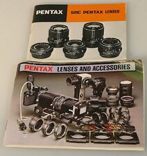 PENTAX LENS AND CAMERA ACCESSORIES GUIDE BOOKS, SET OF 2