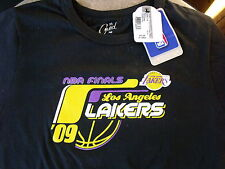 GFS Coed Woman's Lakers NBA Finals 2009 Black T-Shirt - Junior's XL - NWT