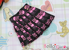 ☆╮Cool Cat╭☆151.【PE-10】Blythe/Pullip Accordion Short Skirt # Skeleton Black/Pink