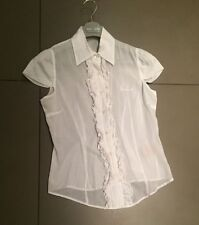 White Burberry Blouse - size M (comes up small)