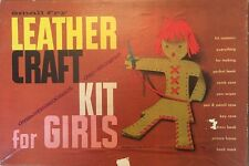 """VINTAGE Leather Craft Kit For Girls for """"SMALL FRY"""" Pressman Toy"""
