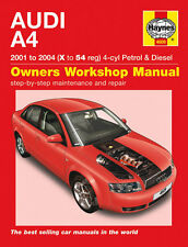 HAYNES WORKSHOP REPAIR MANUAL FOR AUDI A4 PETROL & DIESEL (01 - 04) X to 54 4609