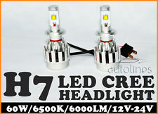 H7 LED 60W CREE 6000LM Car Xenon White Headlight Lamp High Low Kit Globes Bulbs