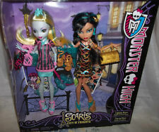 NIB MONSTER HIGH SCARIS~CITY OF FRIGHTS~LAGOONA BLUE & CLEO DE NILE 2 PACK