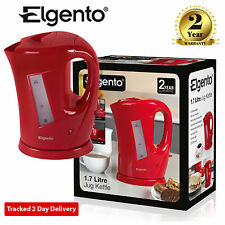 Elgento E10012R 1.7 Litre Jug Cordless Electric Kettle 2.2Kw In Red
