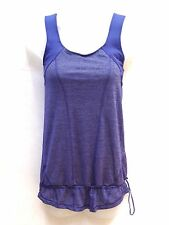 Lululemon Purple/Blue Workout Tank With Built In Bra Women Sz 4 No Limits EUC