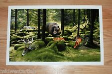 Josh Keyes Sleeping Woods Art Print Poster Limited #d 1100 Edition w COA In Hand