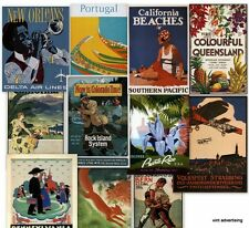 DVD VINTAGE TRAVEL POSTERS (2) Old World Tourism Advertising Antique USA Art
