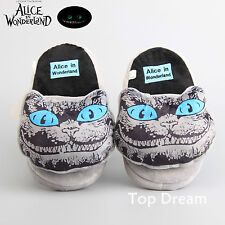 Alice in Wonderland Cheshire Cat Plush Slipper Soft Stuffed Doll Toy Shoes 11''