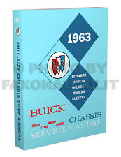 1963 Buick Shop Manual Riviera Wildcat LeSabre Electra Invicta Repair Service