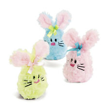 6 ADORABLE PLUSH BEAN BAG Bunnies BUNNY Easter Hunt Bunny Rabbit Basket Filler