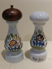 French Pottery Dutertre Desvres Salt and Pepper