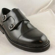 Mens Royal Republiq Dandy Monk Black Leather Formal Shoes - Uk Size 8 Ex-Display