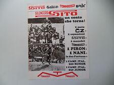 advertising Pubblicità 1975 SITO SILENCERS e MOTO CZ CROSS