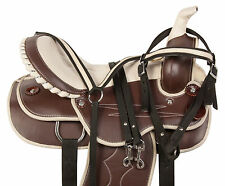 "14"" 15"" 16"" WESTERN BARREL RACING PLEASURE TRAIL SHOW HORSE SADDLE TACK SET NEW"