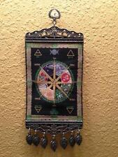 Pagan Calendar Wheel of the Year Mini Turkish Carpet Wall Hanging!