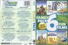 DVD: 2-DISC 6 FUN FILMS FAMILY PACK.....WIND DANCER-HARLEY'S  HILL-LITTLE HEROES