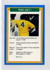 (Jm885-100) RARE,Q.O.S Who Am I ,Barry Fry ,Soccer 1994 MINT