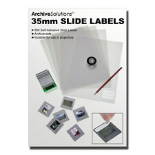 35mm Self-Adhesive Slide Labels. Pack of 500. Acid Free, Archive Safe, Anti-Jam