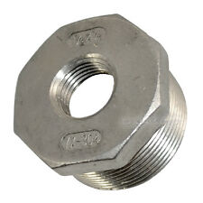 "1 1/2"" Male x 1/2"" female Stainless Steel threaded Reducer Bushing Pipe Fitting"