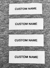 100 Custom Pre-Cut Iron/Sew on Nursing Home Clothing Name Tape Labels/Name Tag