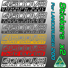 Toyota Land Cruiser 200 decals stickers for V8 Turbo-Diesel and petrol