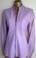 Karen Millen Lilac Soft Butter Leather Zip Jacket Coat Size 8 ~ 10 ❤️