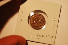 Canada 1947 Cent ZOELL L70b Huge Crack Through X