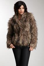 Vintage Havana Brown Faux Fur Cropped Jacket Size Medium NWT