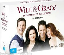 WILL & GRACE: COMPLETE Collection: SEASONS 1-8 1+2+3+4+5+6+7+8 DVD BRAND NEW R4