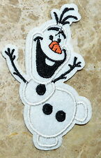 olaf snowman frozen embroidered applique iron sew on patch badge motif