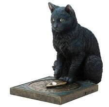 "8.5"" His Masters Voice By Lisa Parker Gothic Decor Black Cat Statue Sculpture"