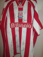 Stoke 2002-2003 Squad Signed Home Football Shirt with COA /20112