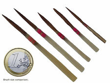 DA VINCI ARTIST BRUSHES -  QUILL 5 PCS - PURE RED SABLE- Handmade - Save 60-80%