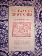 Werewolves! AN EXAMEN OF WITCHES, by Henry Boguet Witch Trials