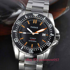 Parnis 43mm black dial 200m watertight sapphire glass Automatic men's watch