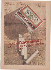 Pubblicità vintage SIGARETTE LAURENS SVIZZERA reklame advert werbung publicitè