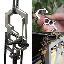 New Pulley system Paracord Biner Multi-Tool Carabiner Stainless-Steel Biner